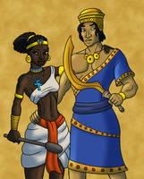 Sumer Meets Egypt - Colors by TyrannoNinja