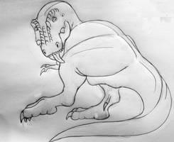 Tyrannosaur Hygiene - Sketch by TyrannoNinja