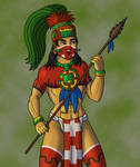 Mesoamerican Warrior by TyrannoNinja