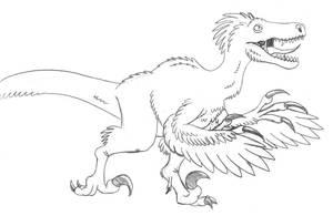 Attacking Raptor Sketch by TyrannoNinja
