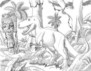 Retro Tyrannosaurus by TyrannoNinja