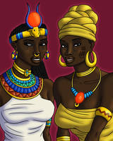 African Love Divinities (Digital Colors) by TyrannoNinja