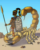 Serket the Scorpion Goddess by TyrannoNinja