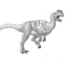 Dilophosaurus Doodle by TyrannoNinja