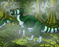Iguanodon in the Mist by TyrannoNinja
