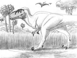 Daspletosaurus horneri on the Hunt by TyrannoNinja