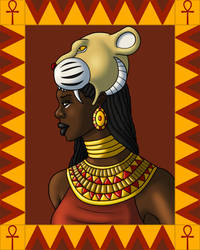 Portrait of Sekhmet by TyrannoNinja