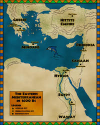 Egyptians Colonizing Greece -Alternate History Map by TyrannoNinja