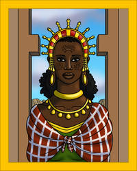 Makeda, Queen of Sheba by TyrannoNinja