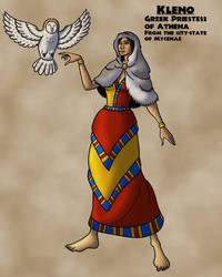 Kleno, Mycenaean Priestess of Athena by TyrannoNinja