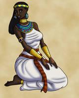 Itaweret on Her Knees by TyrannoNinja