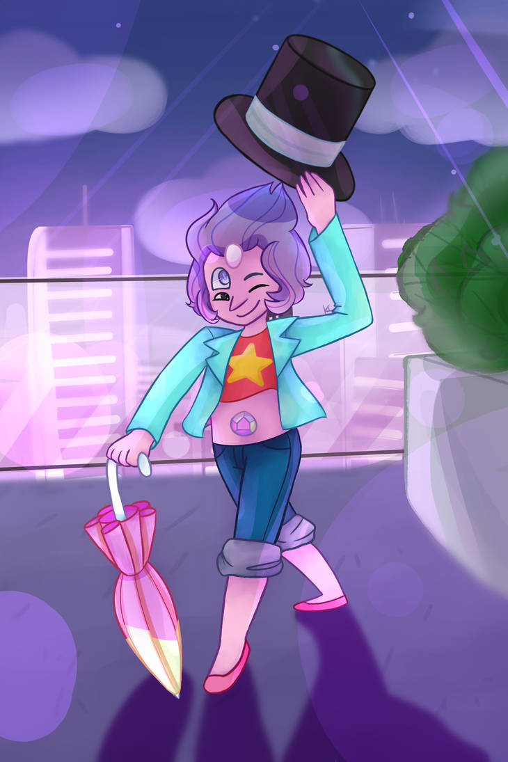 "Rainbow Quartz 2.0/Mary Poppins back in Empire City~ I had so much fun coloring this owu Original bg from the episode ""Mr. Greg"""