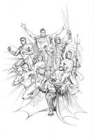 The Justice League  (DC Comics) by FnkNY