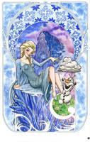 Queen Elsa (Mucha) by Snigom