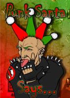 Punk Christmas Card by Snigom