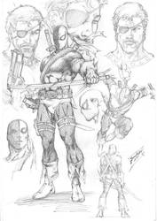 Deathstroke Character Study by comiconart