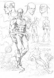Flash Character Study by comiconart