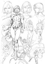 Power Girl Character Study by comiconart