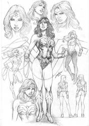 Wonder Woman Character Study by comiconart
