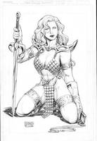 Ed Tadeo: Red Sonja by comiconart