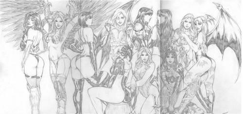 Carlos Silva: Women of Comics by comiconart