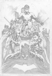 Diego Bernard: Batman Family by comiconart