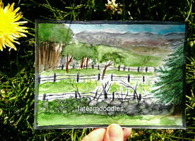 Mini Watercolor Scenery by LateAMdoodles