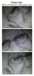 Close Ups - Pencil portrait by Tingeling13