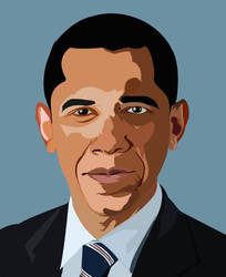 Barrack Obama Vector by panda037