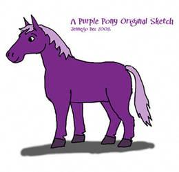 Purple Pony Sketch by jennego
