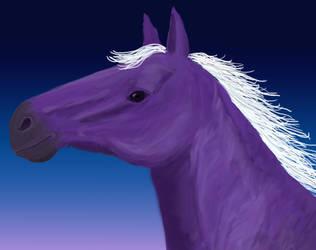 Purple Horse Portrait by jennego