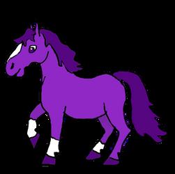Purple Pony by jennego