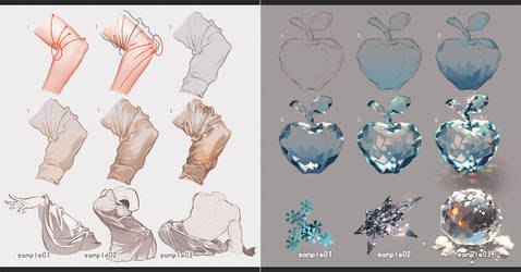 Drawing Fabrics and Ice by kawacy