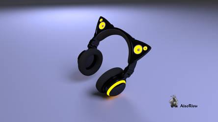 Axent Wear Headphones (Kawaii Fashion) by Aisorisu