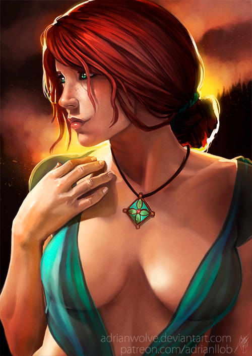 Triss Portrait (NSFW available) by AdrianWolve