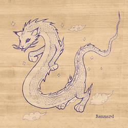 Chinese Dragon Long Cat by RennardX