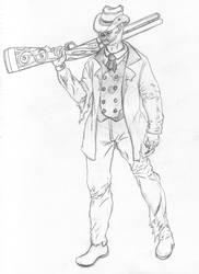 The Long Gone Gunman Pencil by otakusenpai