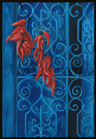 Chilis on the door by Miliedessine