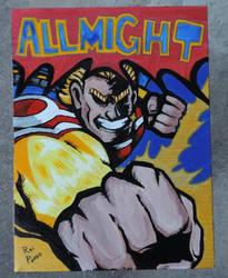 Pintura em Tela - ALLMIGHT - Boku no Hero Academia by GustavoReiPanda