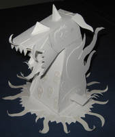 Papercraft Monster Left Side by JasonYoungdale