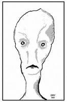 Skinny Alien by JasonYoungdale