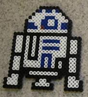 R2D2 fuse bead art by JasonYoungdale