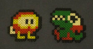 Dig Dug baddies (fuse bead art) by JasonYoungdale