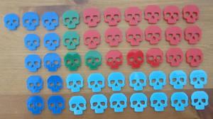 Laser Cut Mini Skulls by JasonYoungdale