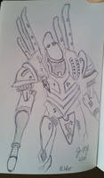 Eldar Phantom Titan by JasonYoungdale