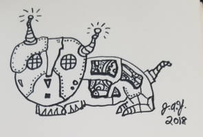 Exploding Kittens Robot by JasonYoungdale
