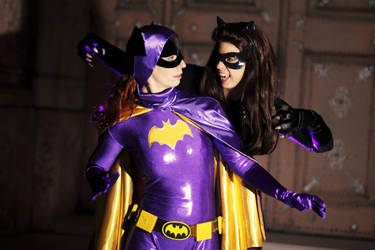Catwoman vs. Batgirl 1966 by Red-Mary