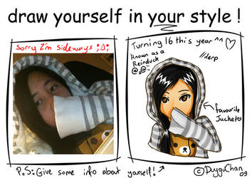 Draw Yourself In Your Style Meme by mantoux3