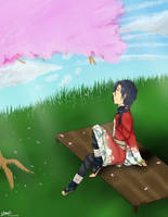 Resting On Cherry Blossom Hill by mantoux3