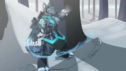 Commission - Dreynbolt - Vesra sniper by Adalore